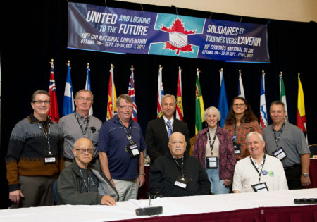 Picture of CIU Life Members with National President at the 2017 National Convention