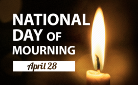 Image of candle to symbolize mourning, for the April 28 Day of Mourning