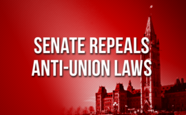Senate Repeals Anti-Union Laws