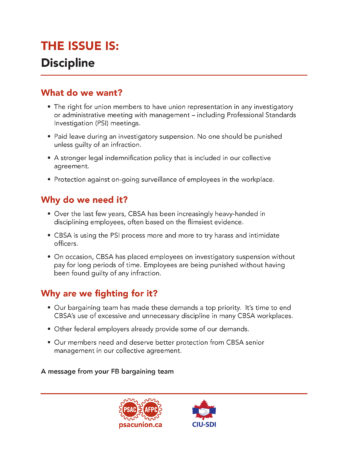 Flyer on discipline