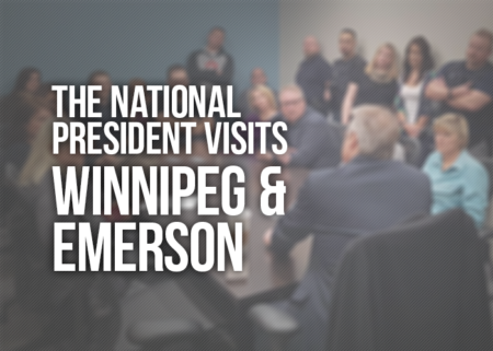 "Image stating ""the national president visits Winnipeg & Emerson"""