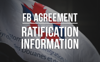 "Image of CIU flag with the words ""FB Agreement Ratification Information"""