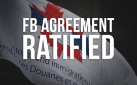 "CIU flag with the words ""FB Agreement Ratified"""