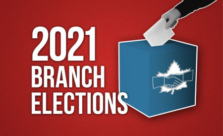 Image of a ballot box with the words 2020 Branch Elections