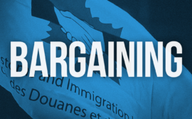 CIU flag with the word bargaining
