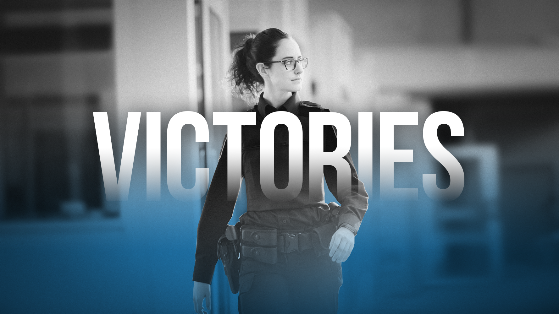 Banner of victory section: Photo of BSO with the word Victories superimposed